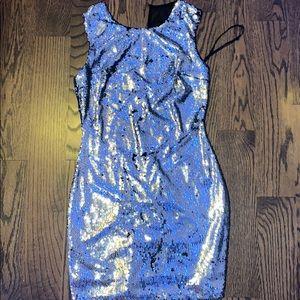Sparkly Sequin Dress, Mesh back